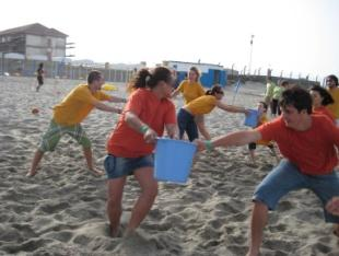 Teambuilding Games on Beach